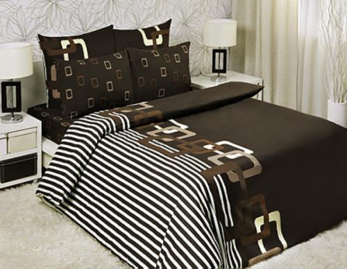 """Семейный комплект постельного белья """"Шоколад"""" Мона Лиза 70x70 (Chocolate Мona Liza Classic)"""