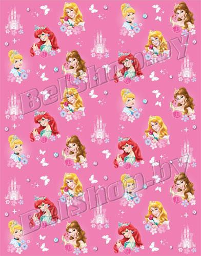 """Детский плед флисовый 150х200 """"Принцессы с бабочкой"""" Мона-Лиза Дисней (Mona Liza) 520323/1"""
