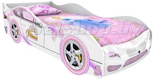 Детская кровать машина для девочки Принцесса Престиж