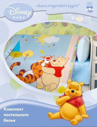 """Детское постельное белье """"Винни и Тигра"""" Дисней (Disney, ясли)"""