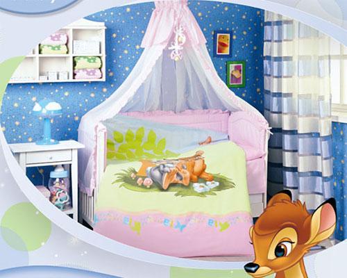"""Детское постельное белье в кроватку """"Бемби"""" Дисней (Disney, ясли)"""