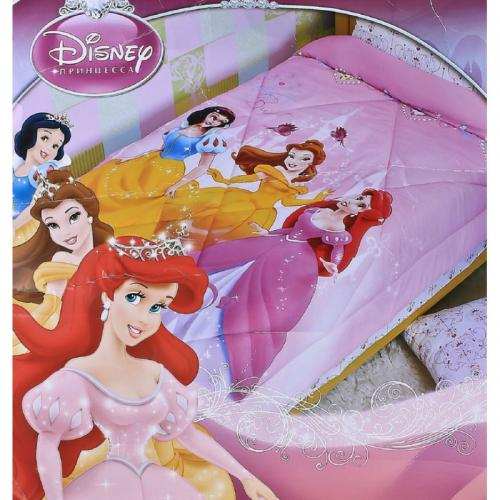 """Одеяло детское полутороспальное зимнее """"Принцессы"""" Дисней (Disney, садик)"""