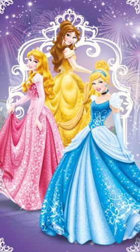 """Детское махровое полотенце 50х90 """"Принцессы на балу"""" Мона-Лиза Дисней"""