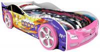 Детская кровать машина для девочки Гранта Эксклюзив с 2 колесами