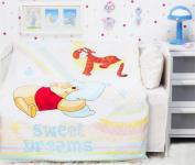 """Детское постельное белье """"Винни на радуге"""" Дисней (Disney, ясли)"""