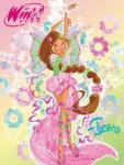 """Детский плед флисовый """"Винкс Флора 2013"""" (Winx Flora) 150х200 Мона Лиза"""